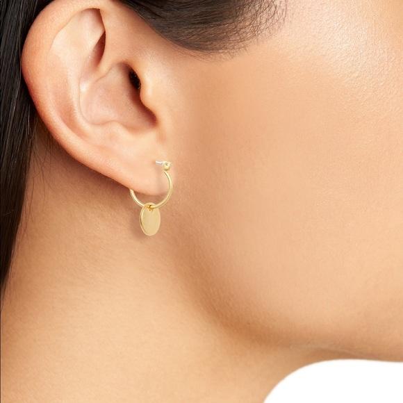 33371d9ce5803a Madewell Jewelry | Disc Charm Mini Hoop Gold Earrings | Poshmark